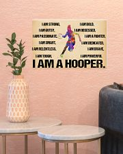 Basketball - i am a hooper poster 17x11 Poster poster-landscape-17x11-lifestyle-21