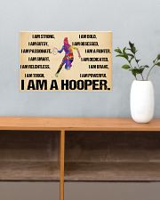 Basketball - i am a hooper poster 17x11 Poster poster-landscape-17x11-lifestyle-24