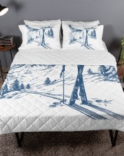 Skiing bed set 2 Queen Quilt Bed Set aos-queen-quilt-bed-set-lifestyle-front-03a