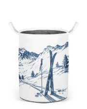 Skiing laundry basket 3 Laundry Basket - Small back