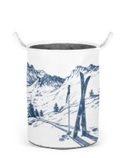 Skiing laundry basket 3 Laundry Basket - Small front