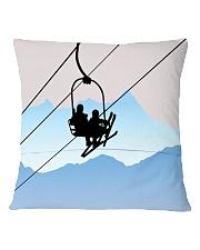 Skiing - Pillow 4 Square Pillowcase back