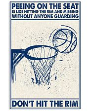 Basketball poster - Don't hit the rim 11x17 Poster front