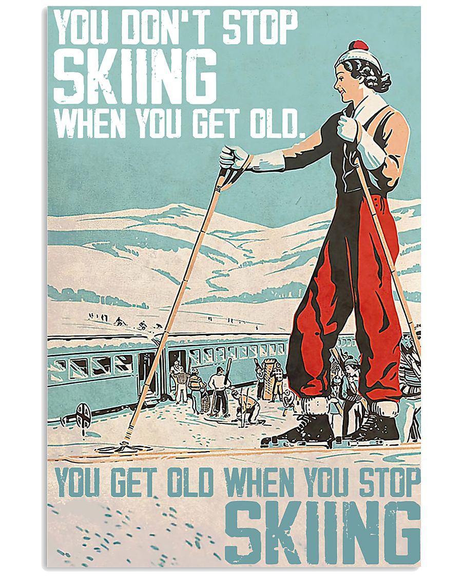 Skiing poster 1-2 11x17 Poster