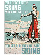 Skiing poster 1-2 11x17 Poster front