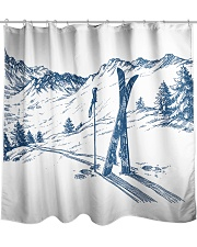 Skiing - shower curtain 1 Shower Curtain front