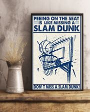 Basketball poster - Don't miss a slam dunk 11x17 Poster lifestyle-poster-3