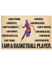 Basketball - i am a basketball player poster 17x11 Poster front