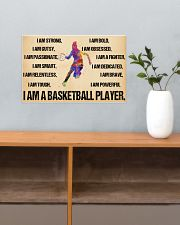 Basketball - i am a basketball player poster 17x11 Poster poster-landscape-17x11-lifestyle-24