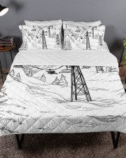 Skiing bed set 1 Queen Quilt Bed Set aos-queen-quilt-bed-set-lifestyle-front-03a