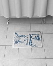 "Skiing - Bath mat 1 Bath Mat - 24"" x 17"" aos-accessory-bath-mat-24x17-lifestyle-front-06"
