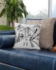 Skiing - Pillow 3 Square Pillowcase aos-pillow-square-front-lifestyle-02