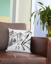 Skiing - Pillow 3 Square Pillowcase aos-pillow-square-front-lifestyle-03