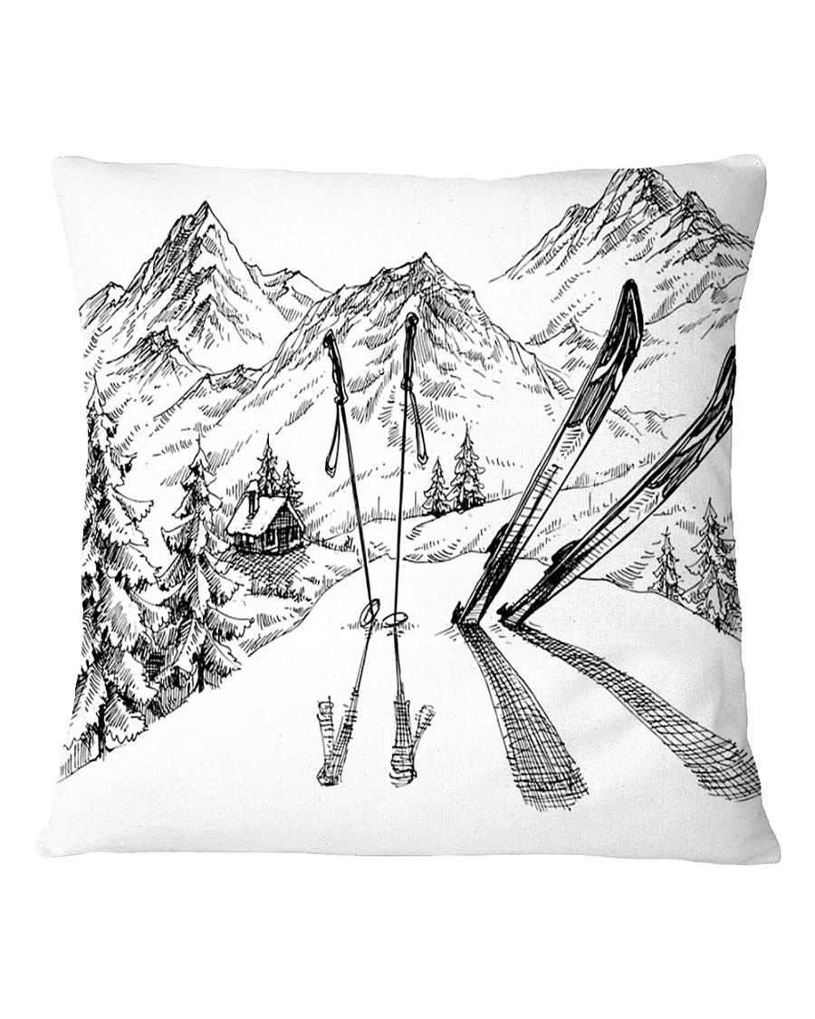 Skiing - Pillow 3 Square Pillowcase