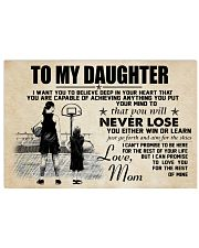 Basketball - To my daughter - Poster 17x11 Poster front