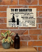 Basketball - To my daughter - Poster 17x11 Poster poster-landscape-17x11-lifestyle-23