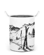 Skiing laundry basket 2 Laundry Basket - Small back
