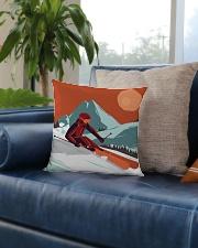 Skiing - Pillow 5 Square Pillowcase aos-pillow-square-front-lifestyle-02