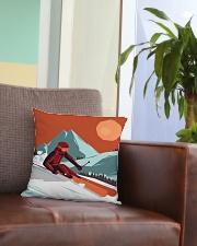 Skiing - Pillow 5 Square Pillowcase aos-pillow-square-front-lifestyle-03