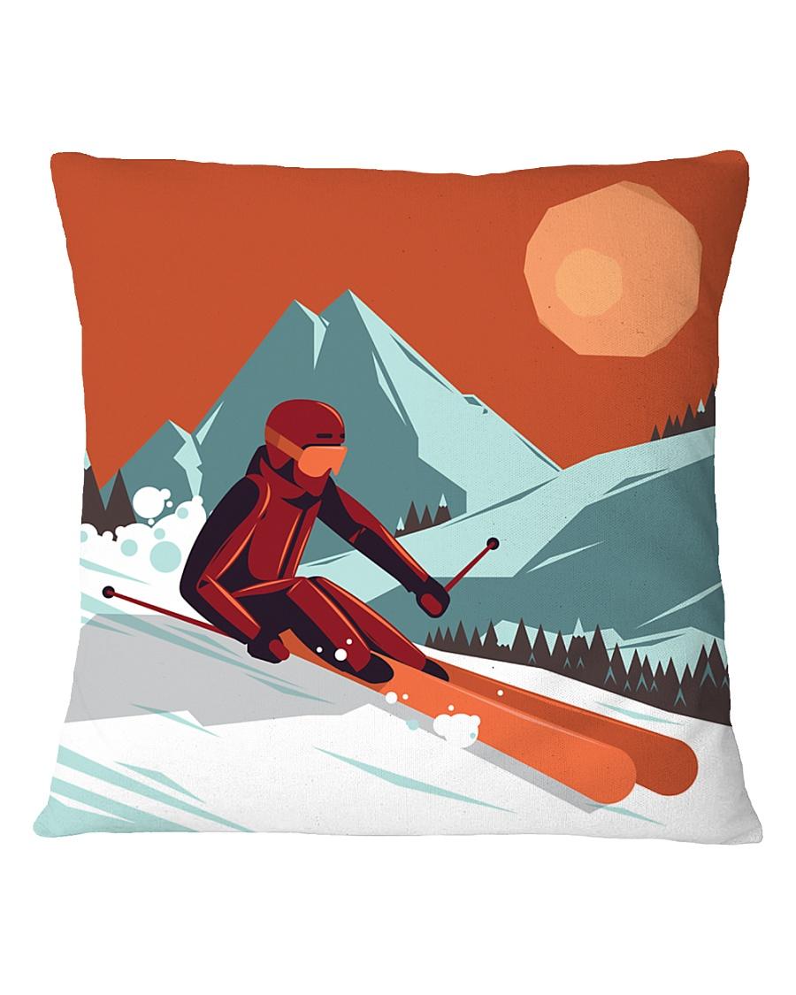 Skiing - Pillow 5 Square Pillowcase