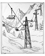"""Skiing blanket 1 Fleece Blanket - 50"""" x 60"""" front"""