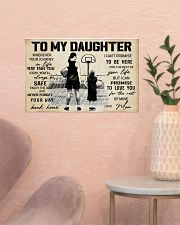 Basketball - To my daughter - Poster 17x11 Poster poster-landscape-17x11-lifestyle-22