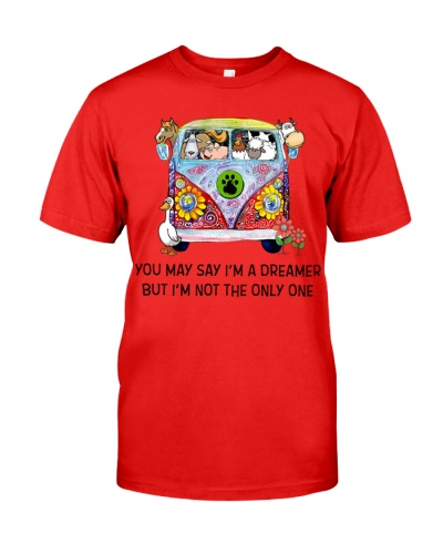 Vegan shirt you may say im dreamer