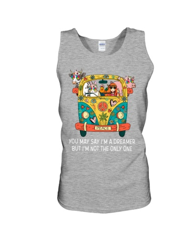 Vegan shirt hippie you may say im dreamer