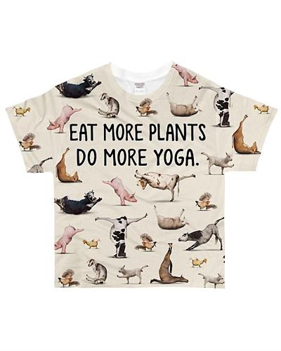 Shirt eat more plants do more yoga