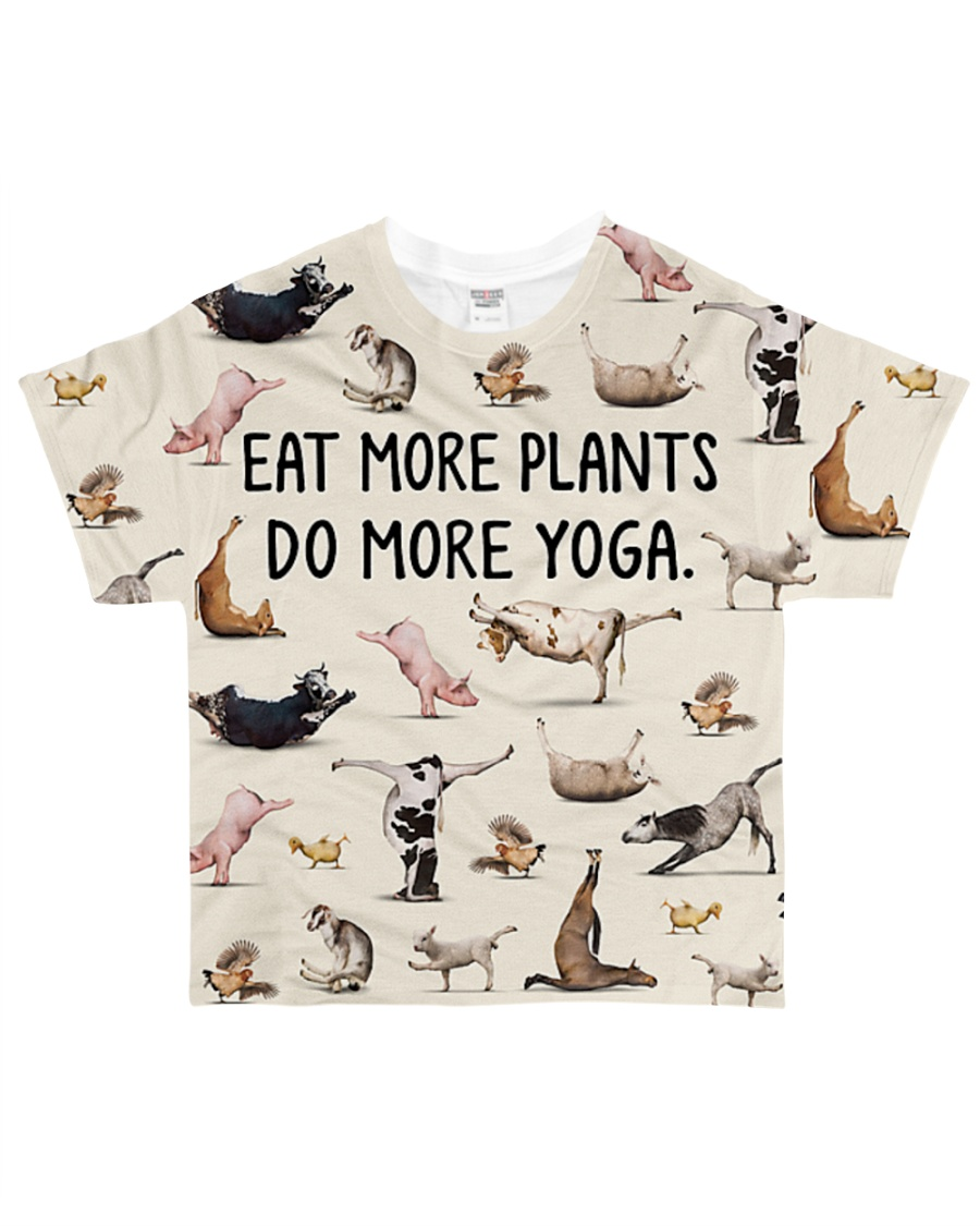 Shirt eat more plants do more yoga All-over T-Shirt