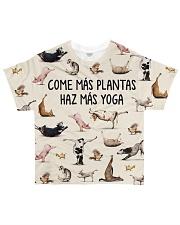 Vegan Come más plantas Haz más yoga All-over T-Shirt front