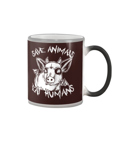 Vegan shirt save animals eat humans
