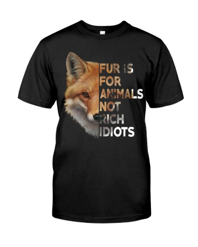Vegan animal right fur is for animals