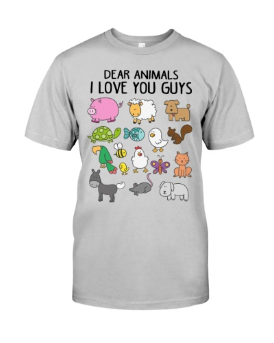 Vegan shirt dear animals i love you guys
