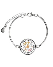 Vegan shirt dear animals im sorry  Metallic Circle Bracelet thumbnail
