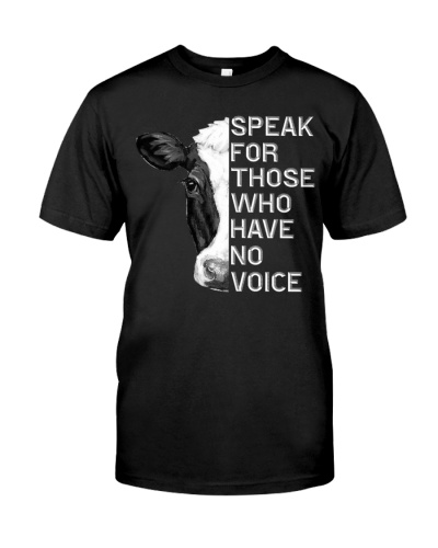 Vegan shirt speak for those who have no voice
