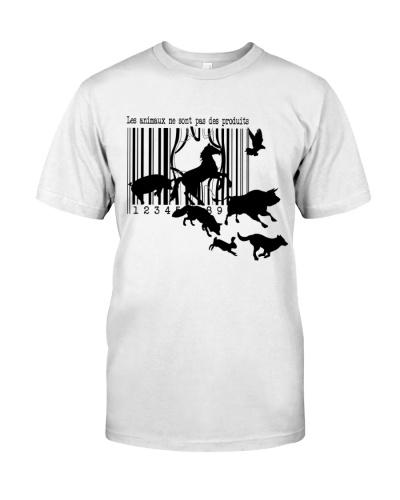 Vegan shirt les animaux