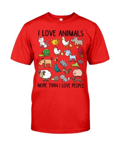 Vegan shirt i love animals more than i love people