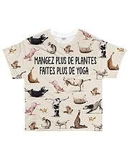 mangez plus de plantes faites plus de yoga All-over T-Shirt front