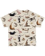 Vegan animal yoga veganism vegetarian  All-over T-Shirt back