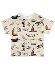Vegan animal yoga veganism vegetarian  All-over T-Shirt front