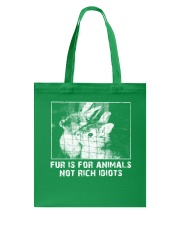 Vegan animal right fur is for animals rabbit Tote Bag thumbnail