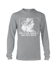 Vegan animal right fur is for animals rabbit Long Sleeve Tee thumbnail