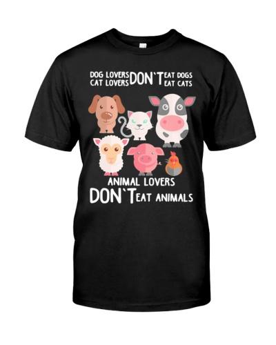 Vegan animal lovers dont eat animals