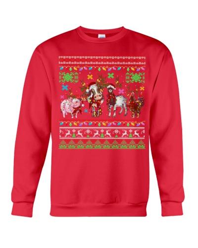 Vegan animals merry christmas