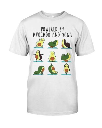 Vegan powered by avocado yoga funny cute