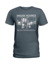 Vegan animal right endless violence  Ladies T-Shirt thumbnail