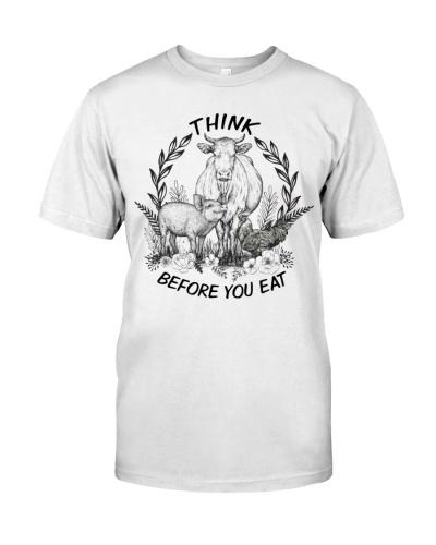 Vegan shirt think before you eat
