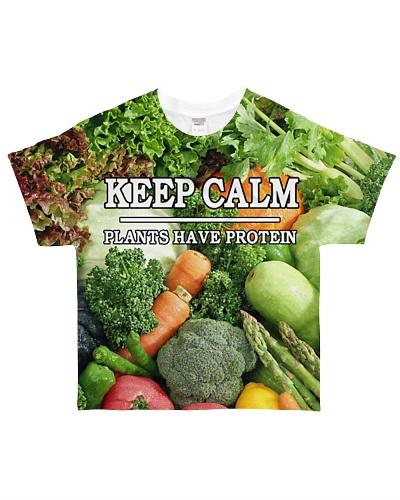 VEGAN KEEP CALM PLANTS HAVE PROTEIN