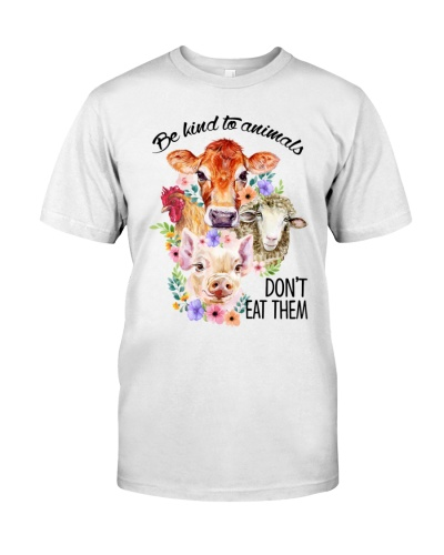 Vegan shirt be kind to animals dont eat them
